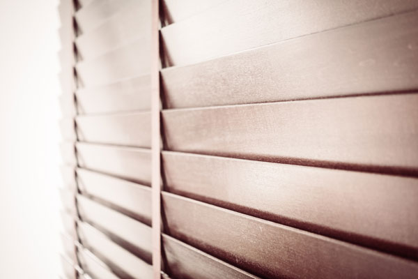 Brown Wooden Shutters - victor shades
